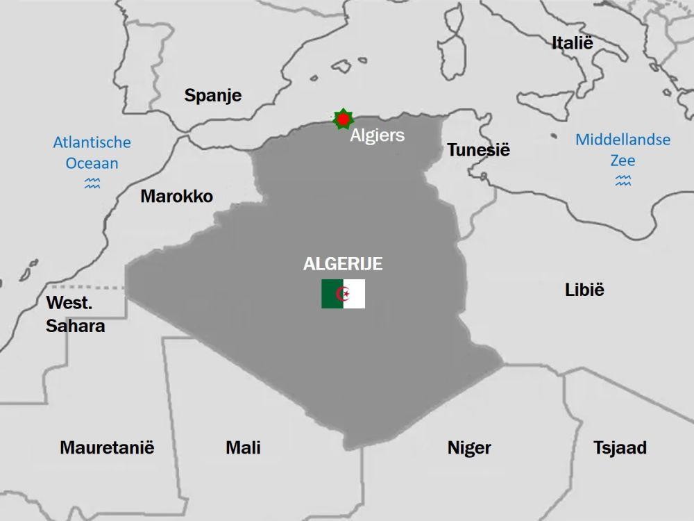 kaart Algerije