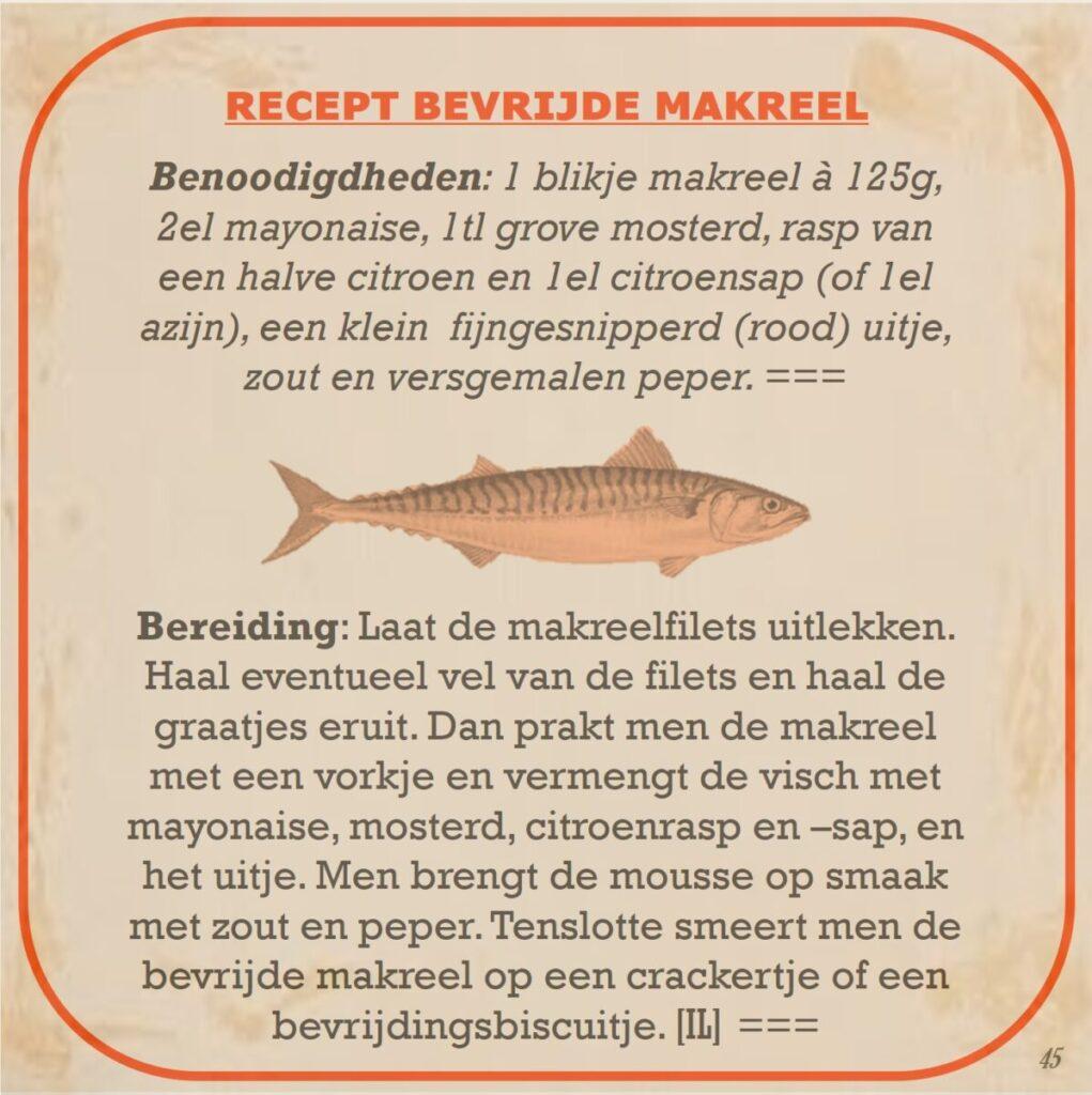 recept bevrijde makreel