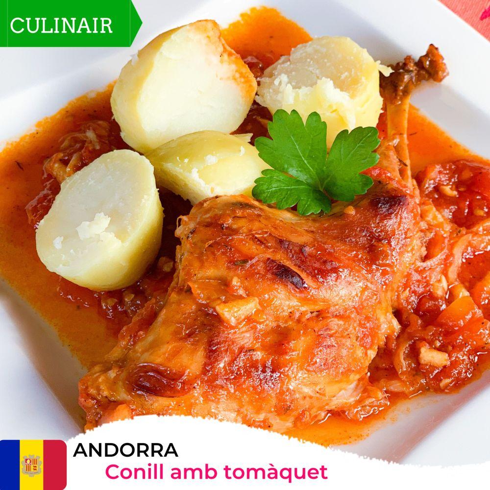 Andorra - Conill amb tomàquet - konijn in tomatensaus