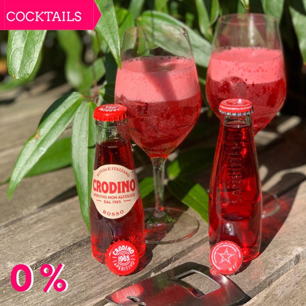 Mocktail Monday tip 0% aperitivos Sanbitter en Crodino Rosso