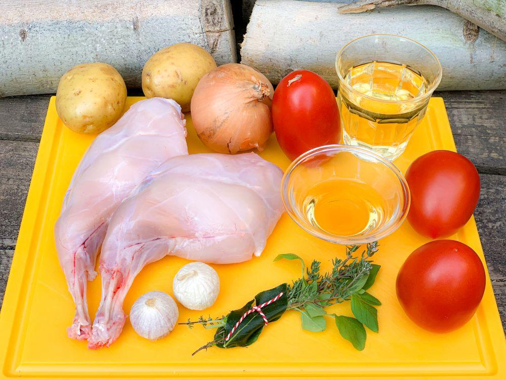 ingrediënten conill amb tomàquet uit Andorra