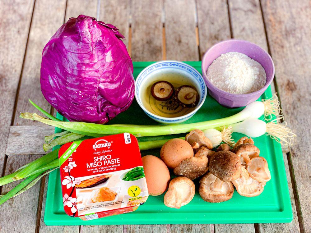 ingrediënten vegetarische okonomiyaki