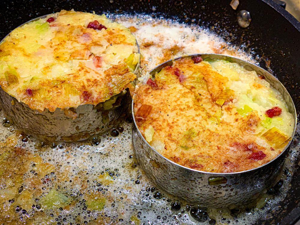 trinxat met aardappel kool en spek
