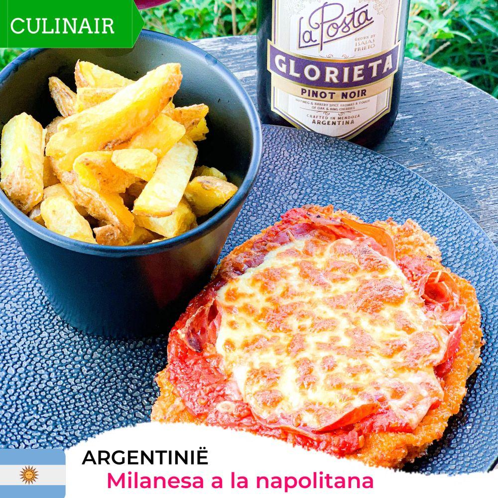 Argentijnse milanesa a la napolitana