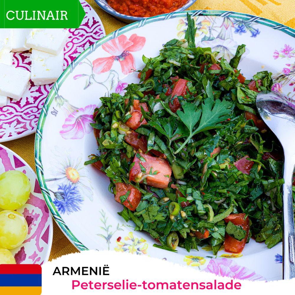 Armeense peterselie-tomatensalade