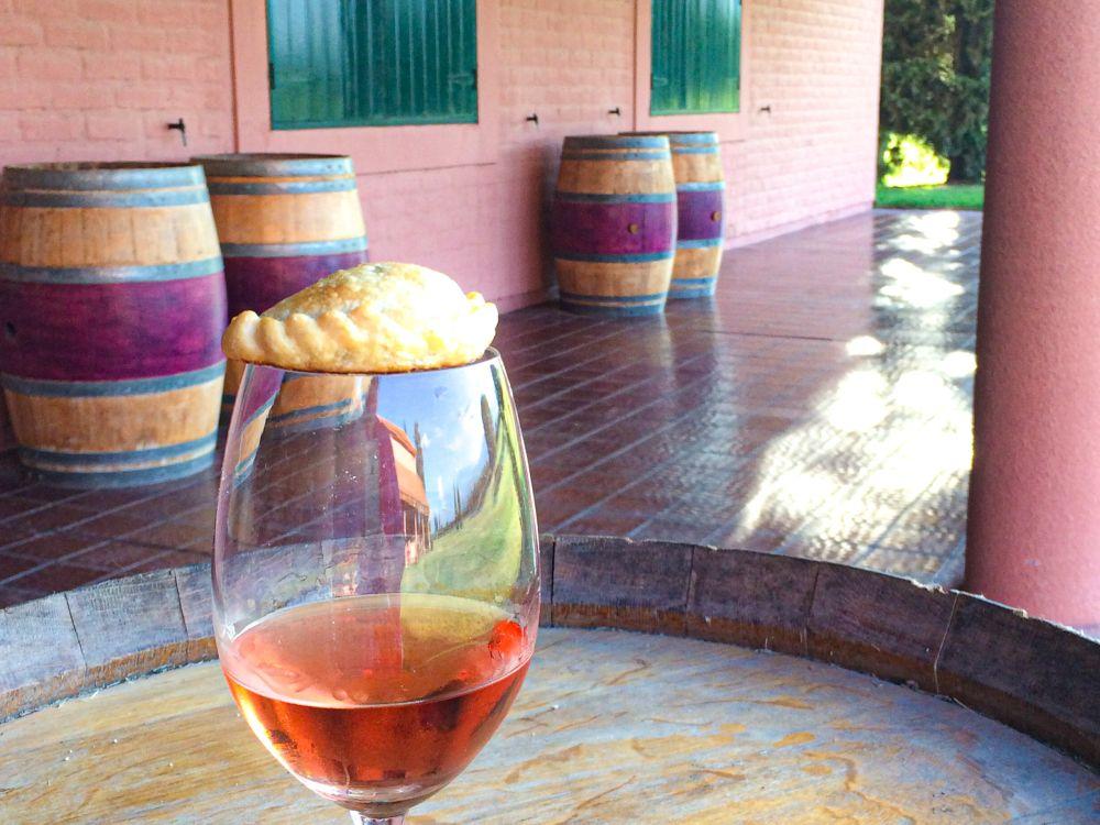 empanada en Argentijnse rosé