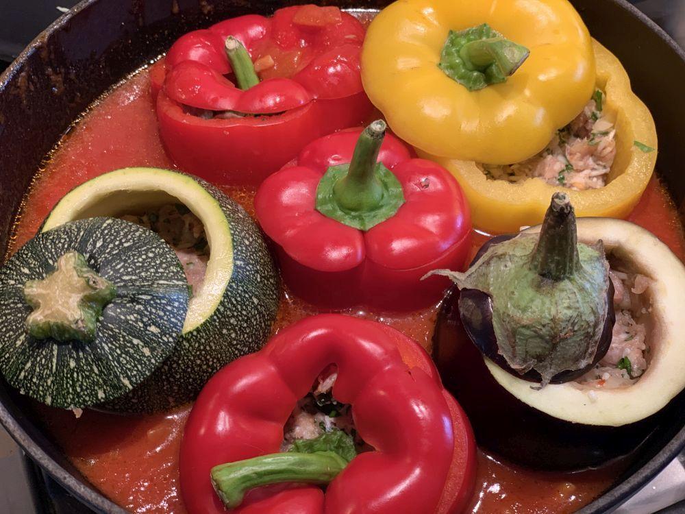 groentendolmas in tomatensaus