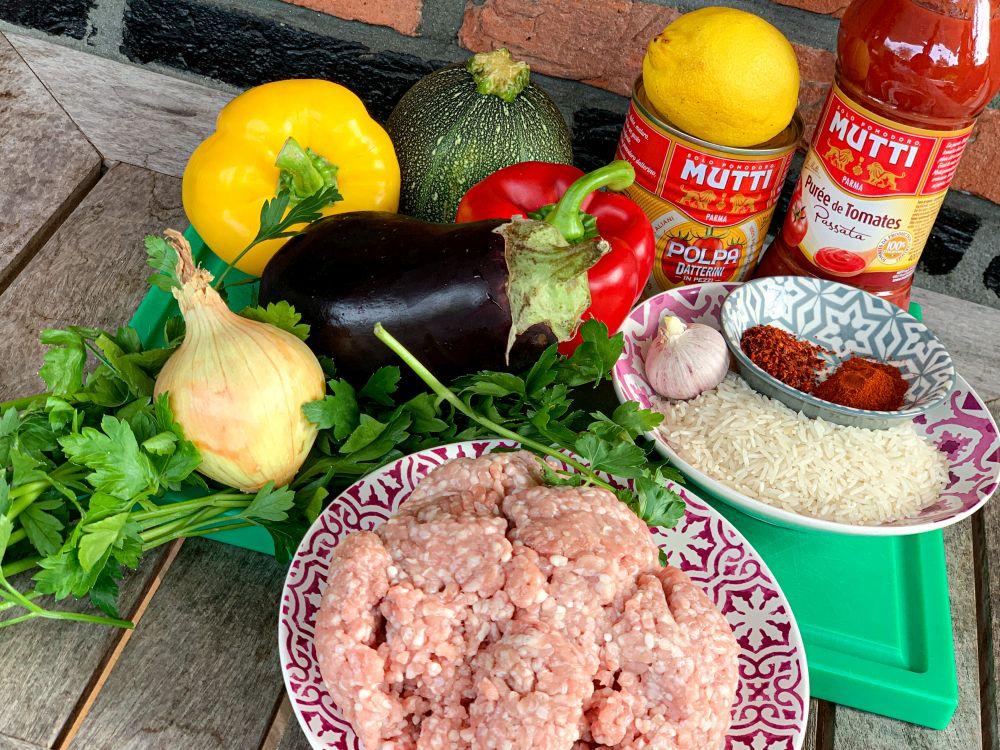 ingrediënten Armeense groentendolmas