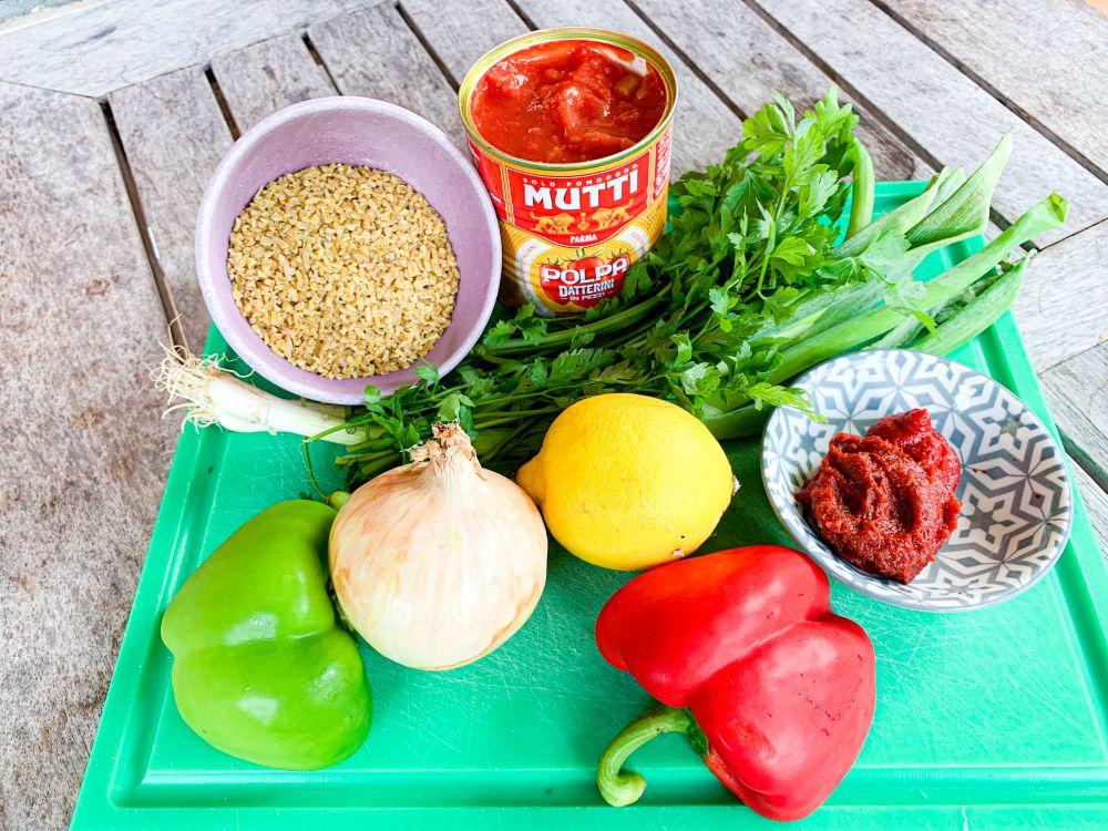 ingrediënten eetch - Armeense bulgursalade