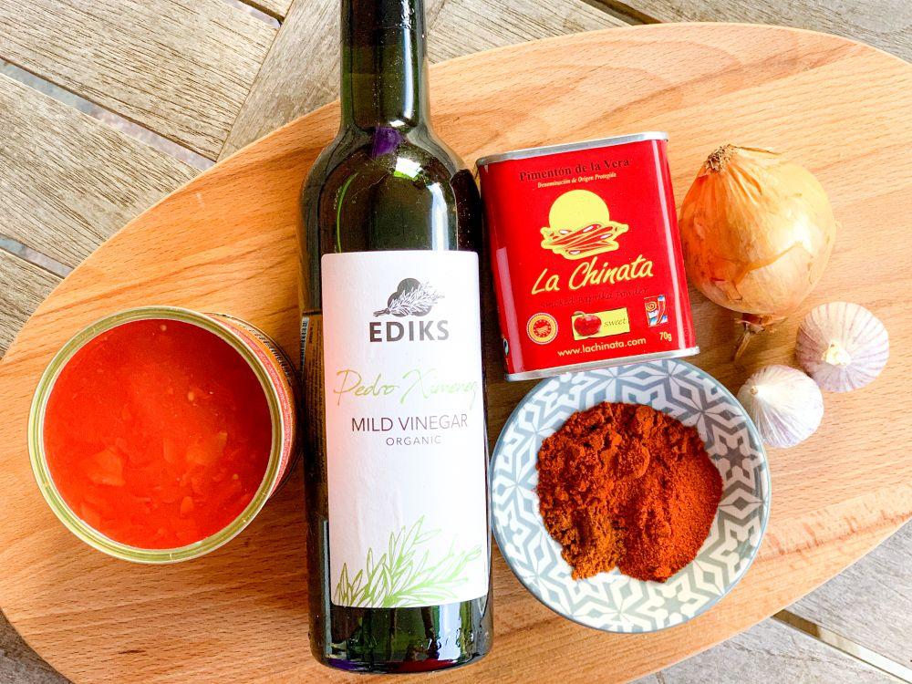 ingrediënten salsa brava