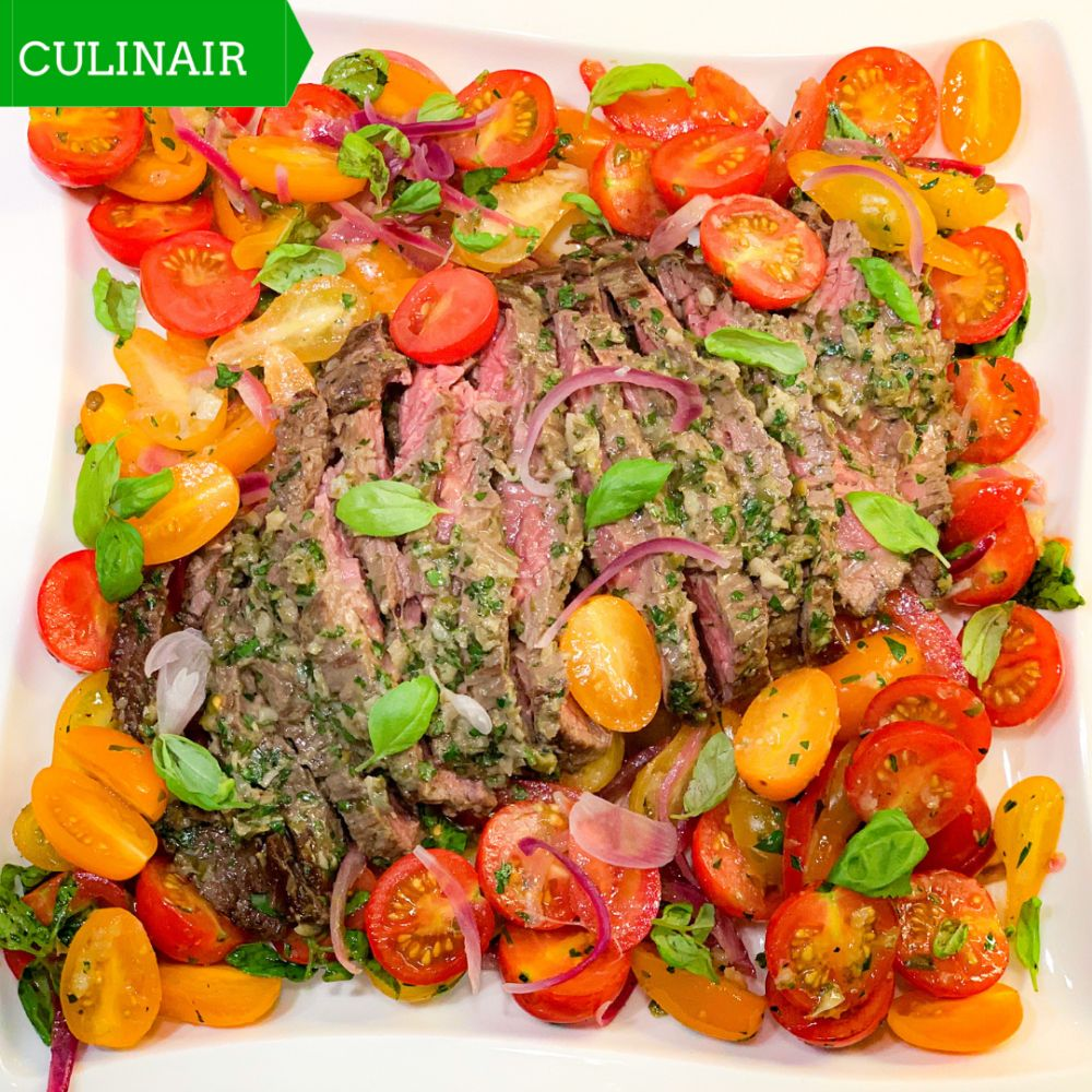 Puttanesca tomatensalade met bavette