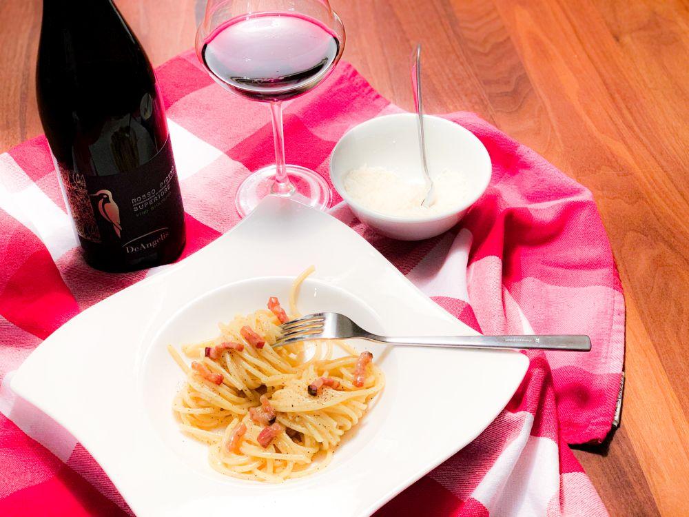 Spaghetti carbonara - wijntip