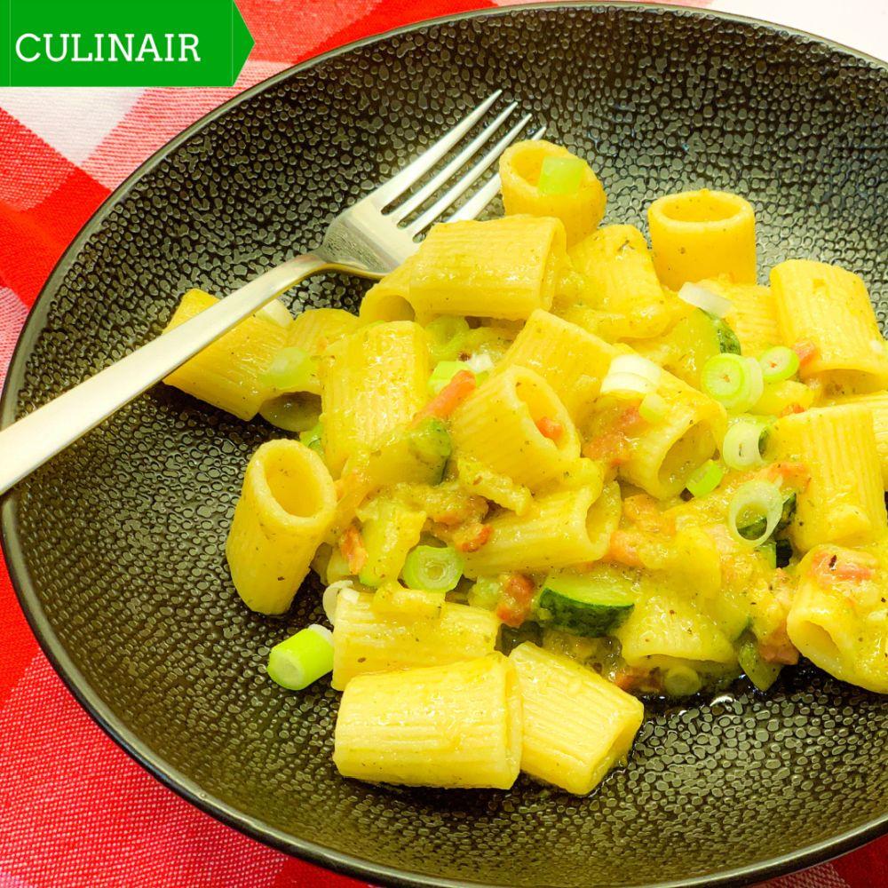 pasta courgette pancetta