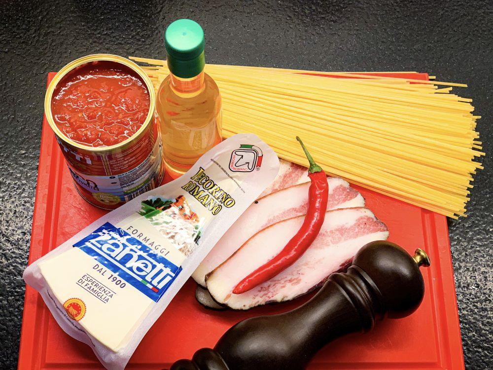 ingrediënten spaghetti all'amatriciana