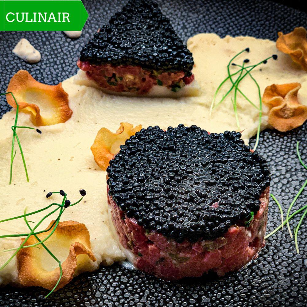 Steak tartaar de luxe met kaviaar
