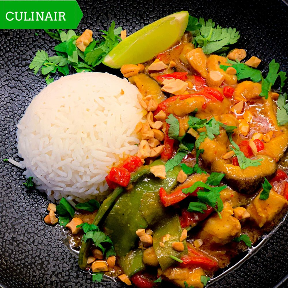 Thaise curry met kip en kokos