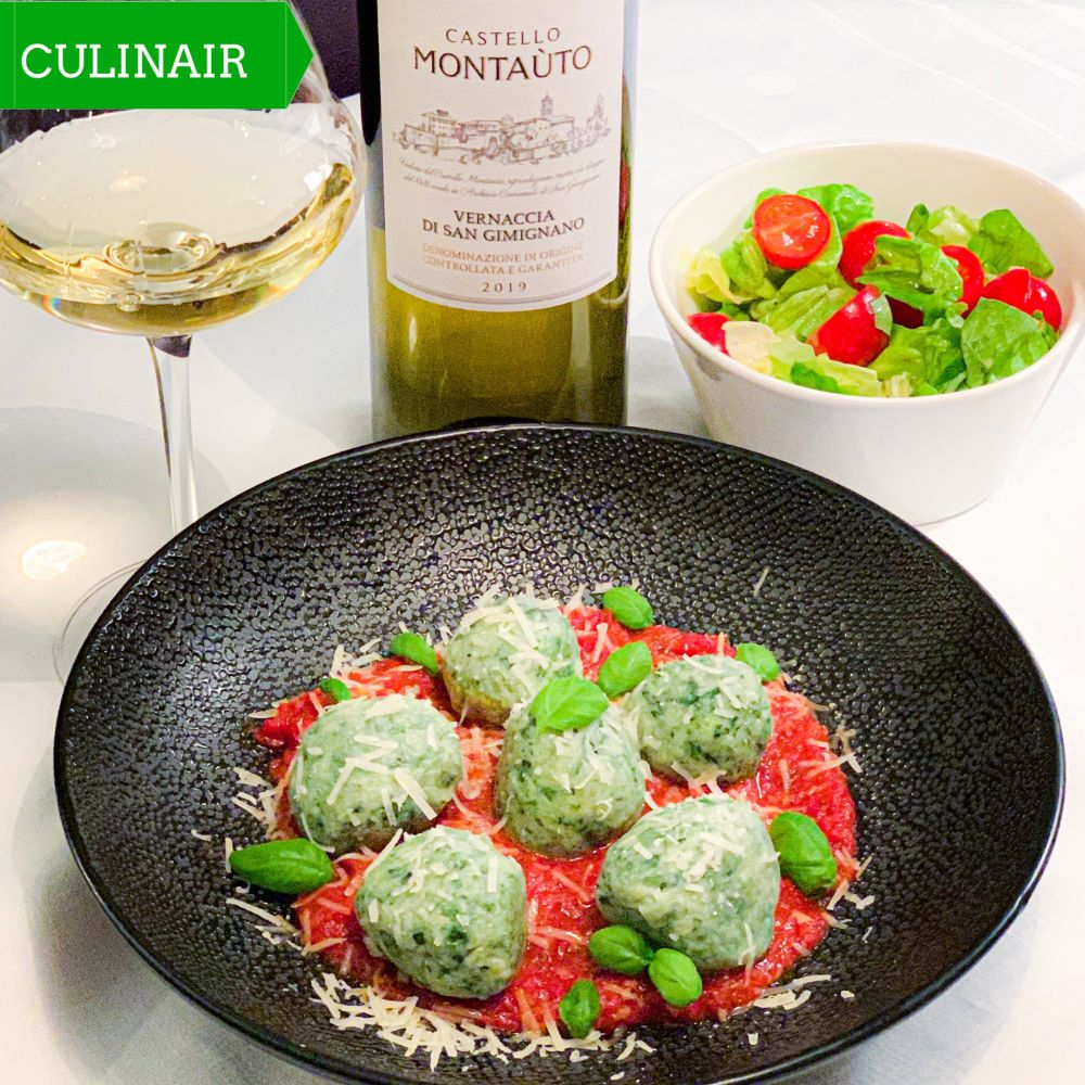 Toscaanse gnudi met ricotta en spinazie