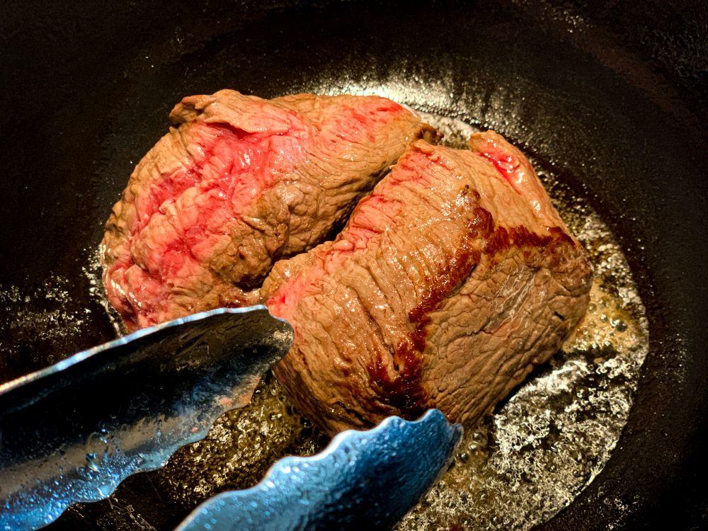 Beef tataki - kort aanbraden