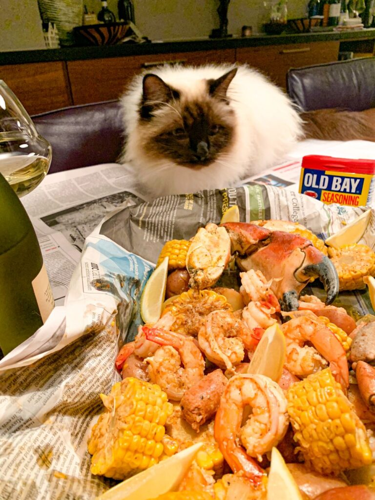 Seafood Boil is shared dining