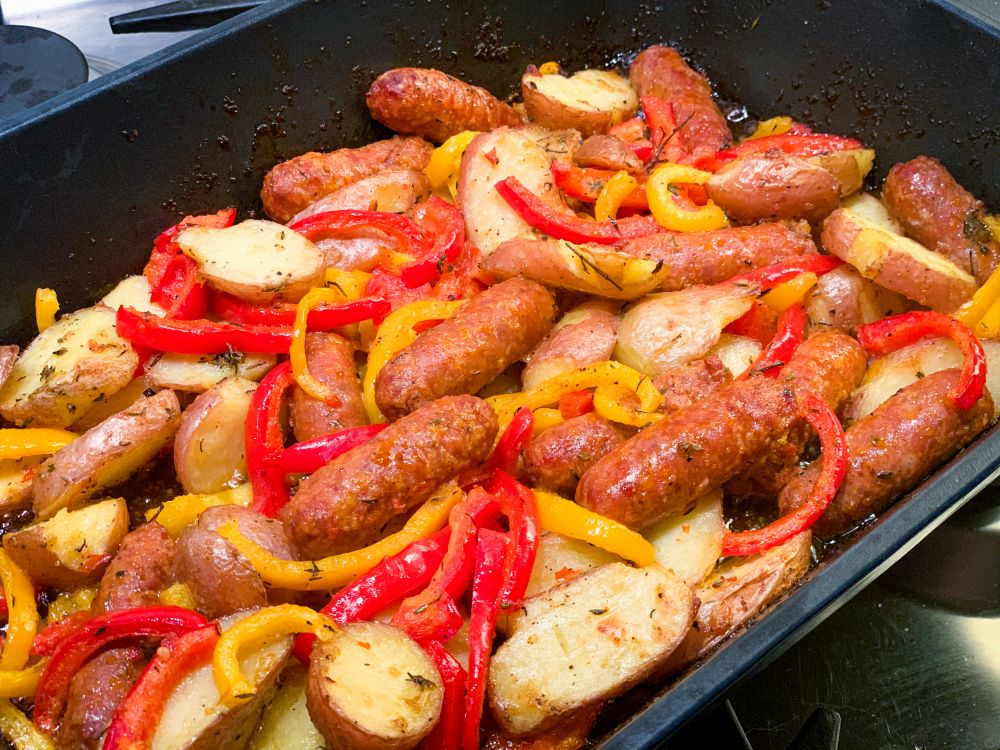 Spaanse aardappel-chorizoschotel