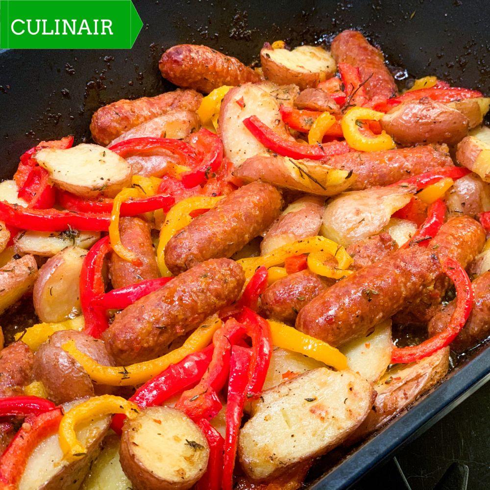 Spaanse aardappeltjes met chorizo en paprika