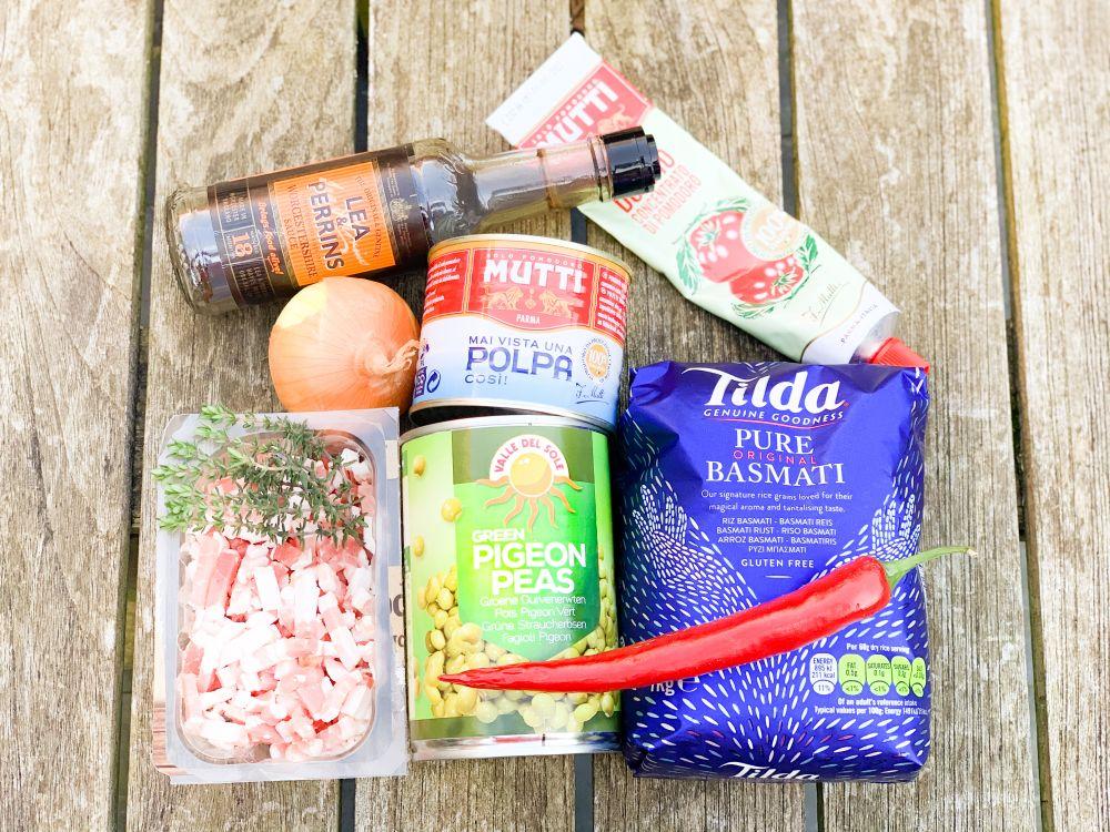 Ingrediënten Bahamas Peas and Rice