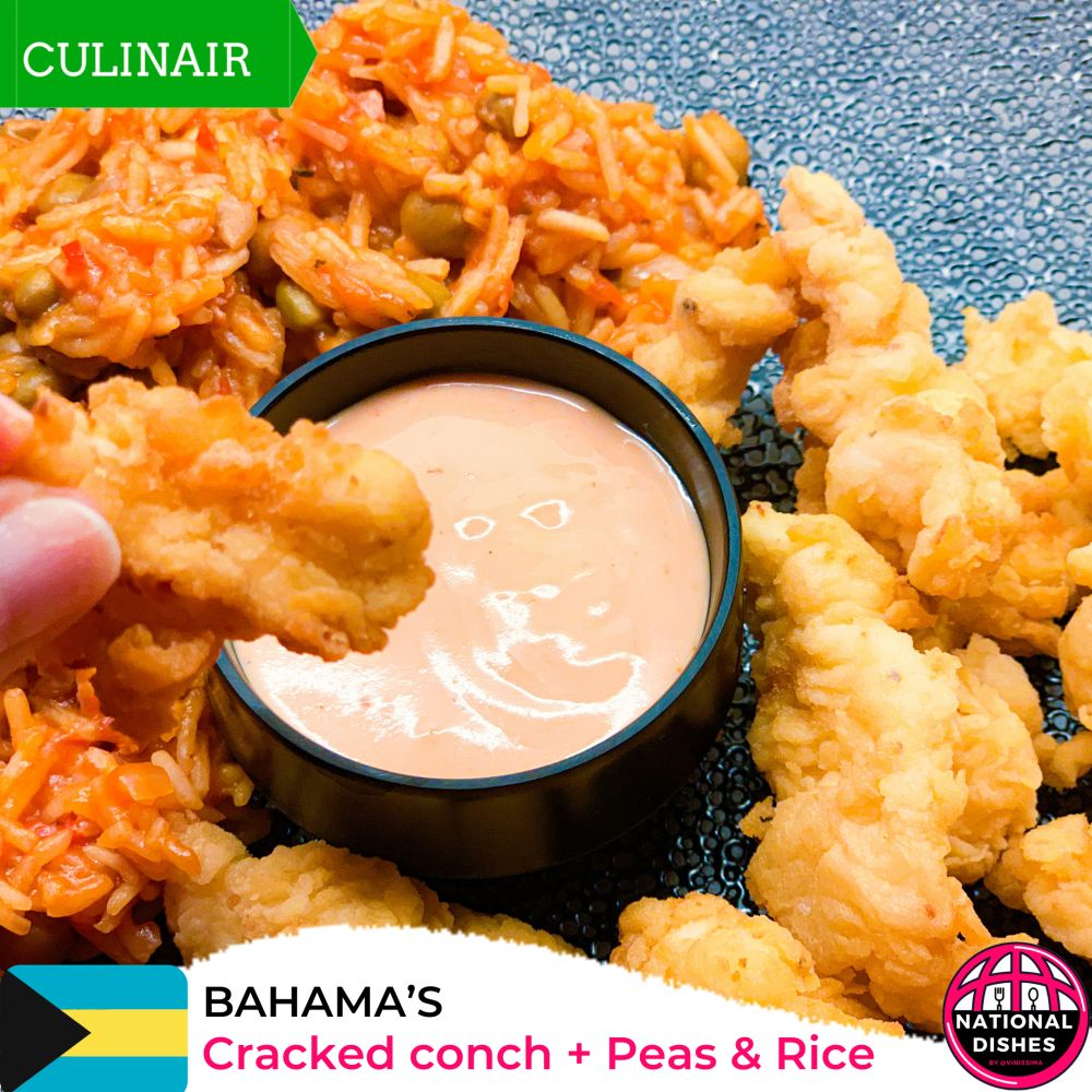 National dish Bahamas - cracked conch