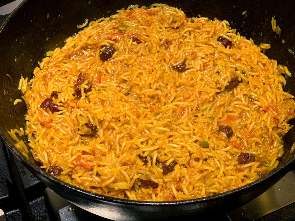 Rijst koken bij machboos