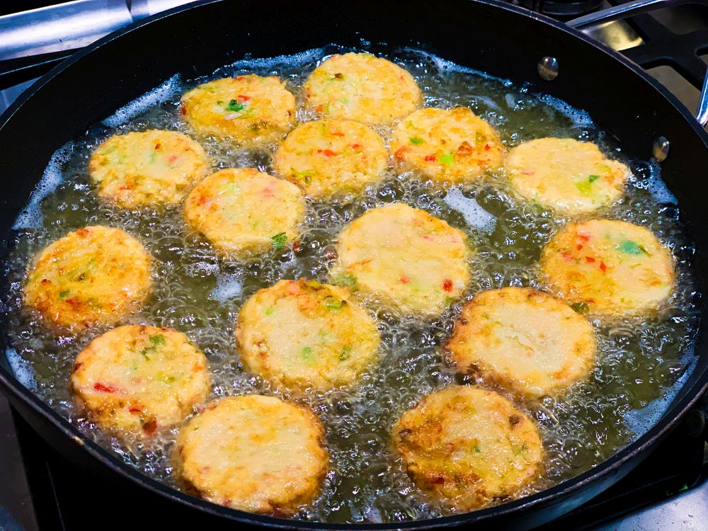 Thaise crabcakes bakken