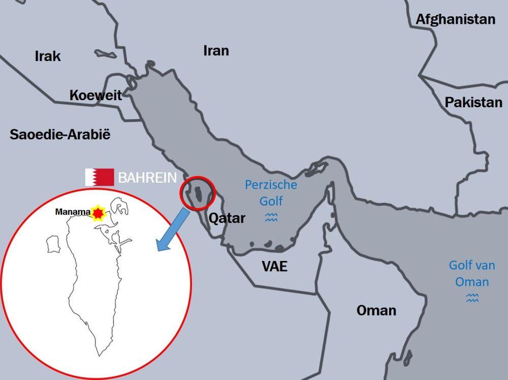 kaart Bahrein