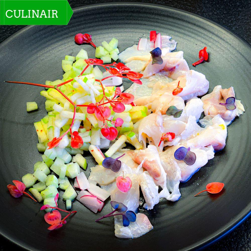 Ceviche van zeebaars met Apple Blossom