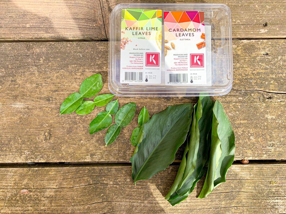 Kaffir Lime Leaves en Cardamom Leaves