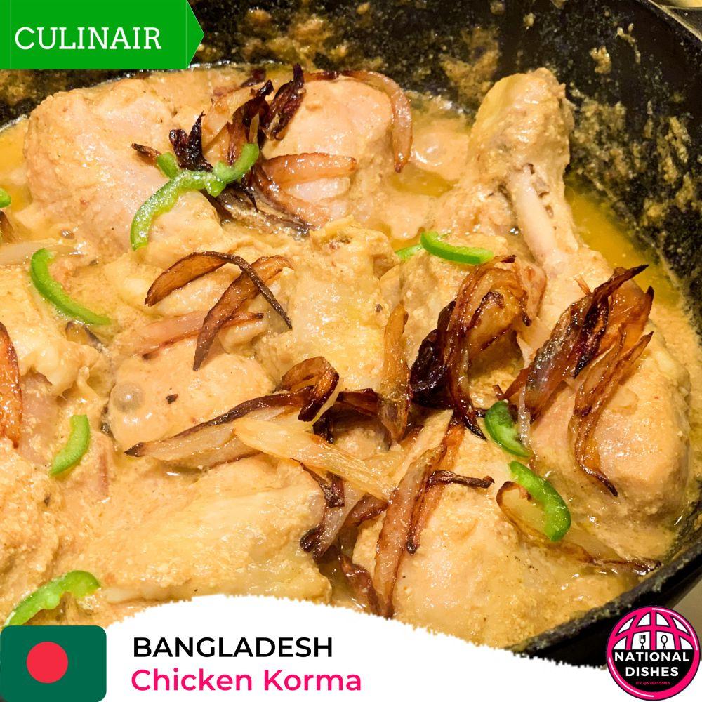 Nationaal gerecht Bangladesh - Chicken Korma