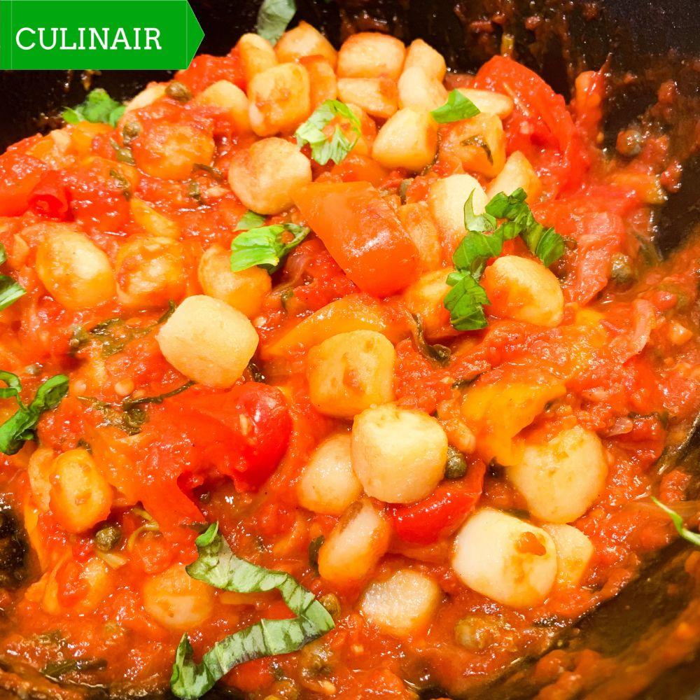 Peperonata con patate alla siciliana