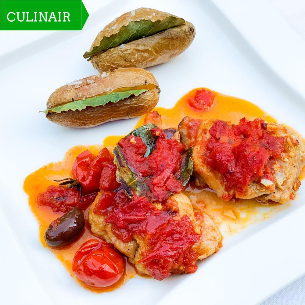 Spaanse kip en laurieraardappeltjes