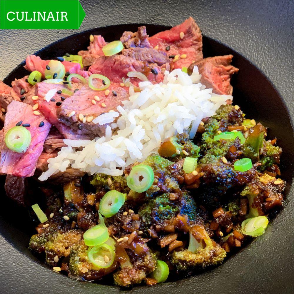 Beef Broccoli Buddha Bowl